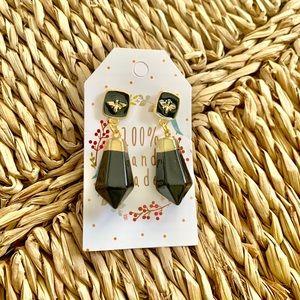 Retro Black Bee 🐝 Earrings
